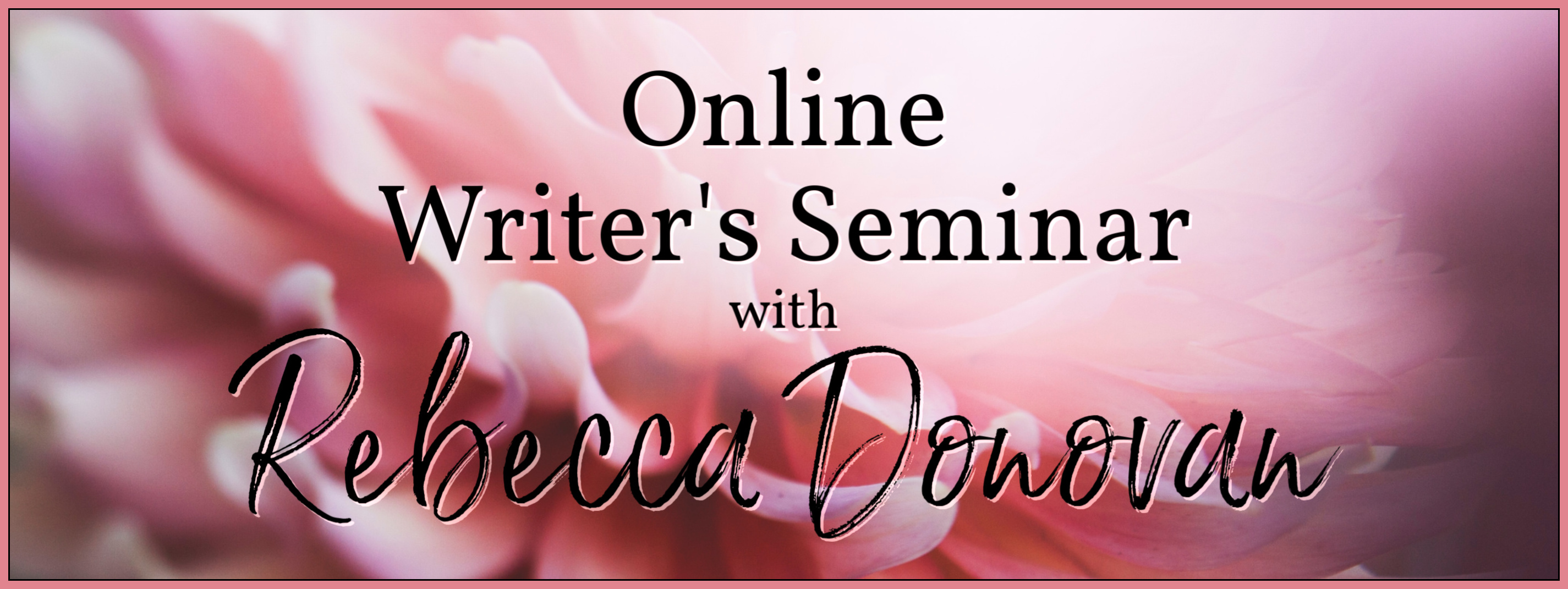 Online Writer's Seminar with Rebecca Donovan